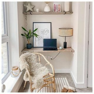 Simple Wooden Home Office Design / Decoration (#128502)