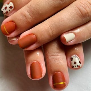 Small  Red  Short Gel Red Nail Designs  (#135001)