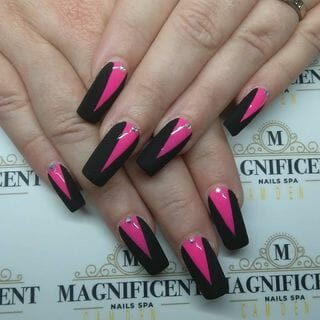 Spring Valentine Long Ombre Nail Designs  (#132596)