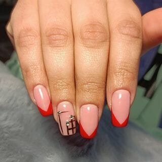 Spring Valentine Long Ombre Nail Designs  (#132635)