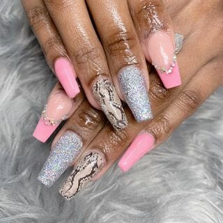 Spring Valentine Long Ombre Nail Designs  (#132597)