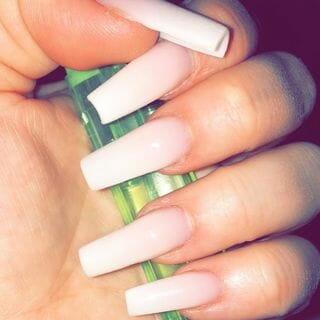 Spring Valentine Long Ombre Nail Designs  (#132611)