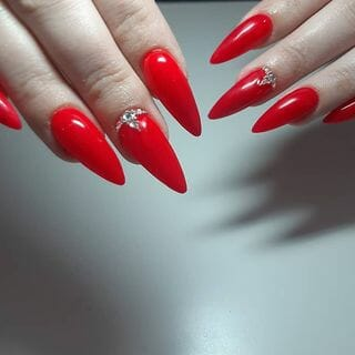 Spring Valentine Long Ombre Nail Designs  (#132574)