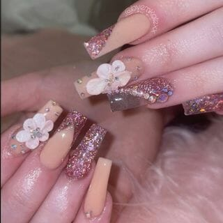 Spring Valentine Long Ombre Nail Designs  (#132577)