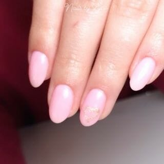 Pink Gel Marble Acrylic Nude Nail Designs  (#137104)