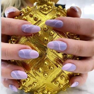 Green Gold Long Unique Marble Nail Designs  (#133603)