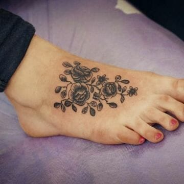 Sexy Lily Foot Tattoo Design